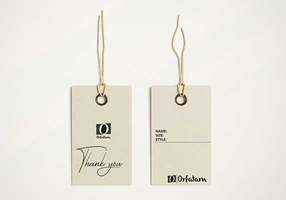 Customised tags for your products such as clothes or fashion accessories etc.