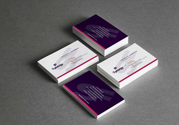 Business cards-under graphics column